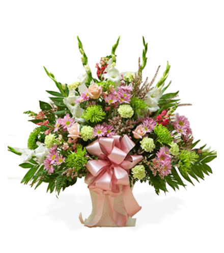 Pastel Sympathy Floor Basket - Greater