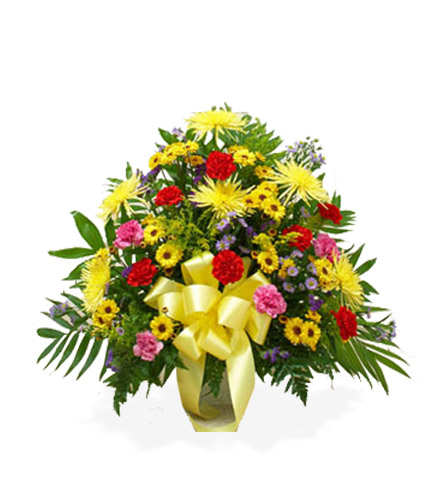 Multi-Color Bright Sympathy Floor Basket - Great