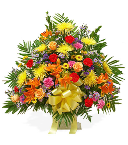 Multi-Color Bright Sympathy Floor Basket - Greatest