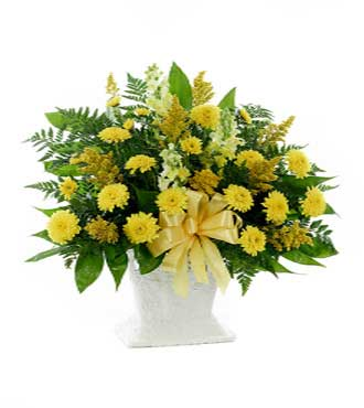Classic Yellow Mache Basket - Great
