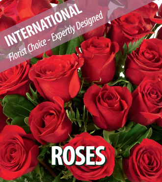 Dozen Red Roses - International