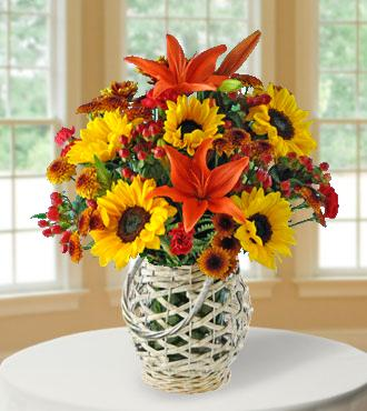 Autumn Glory Lantern Bouquet