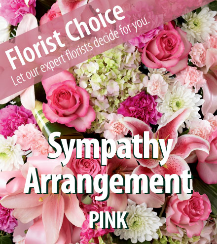 Florist Choice - Sympathy Pink Arrangement From  $75