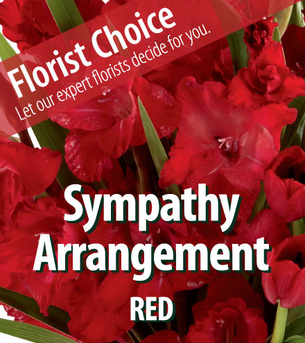 Florist Choice - Sympathy Red Arrangement From  $75