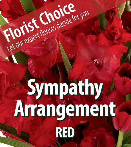 Florist Choice - Sympathy Red Arrangement