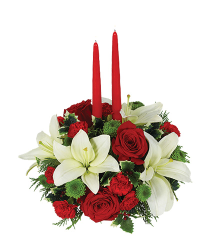 Holiday Floral Centerpiece