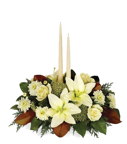 White Holiday Centerpiece - Greater