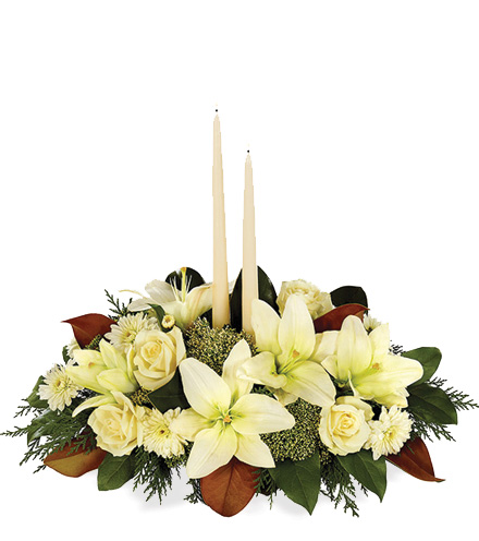 White Holiday Centerpiece - Greatest