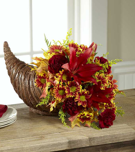 The FTD® Fall Harvest™ Cornucopia by Better Homes and Gardens | Blooms Today