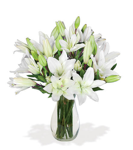White Classic Lily Bouquet From  $75