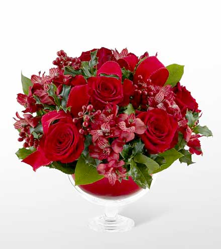 FTD® Holiday Rose™ Bouquet by Vera Wang