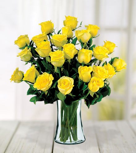 24 Yellow Roses