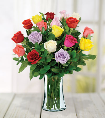 18 Multi-Color Roses