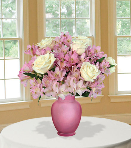 Pink Pearls with Pink Vase