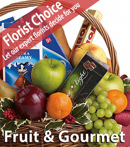 Florist Choice Fruit & Gourmet Basket
