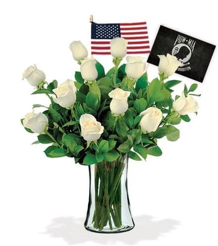 12 White Roses - POW