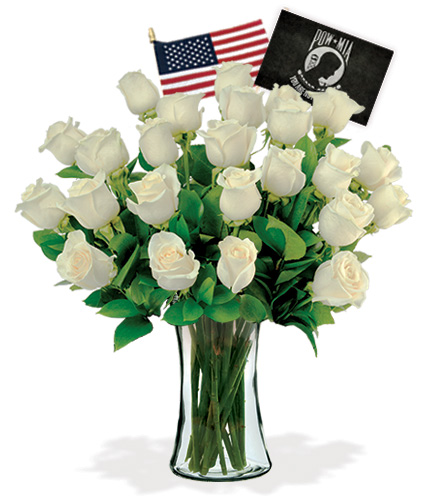 24 White Roses - POW