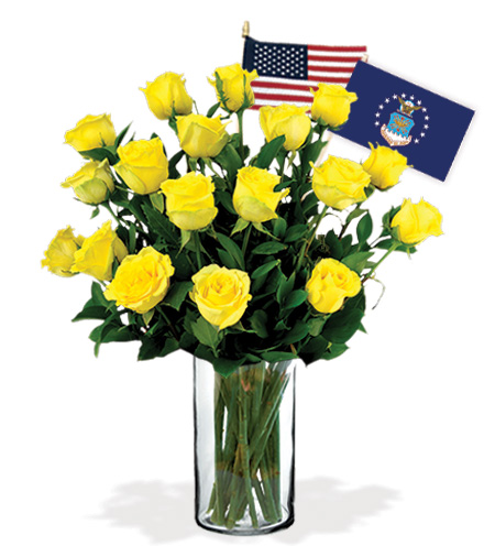 18 Yellow Roses - Air Force