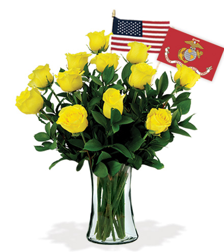 12 Yellow Roses - Marines