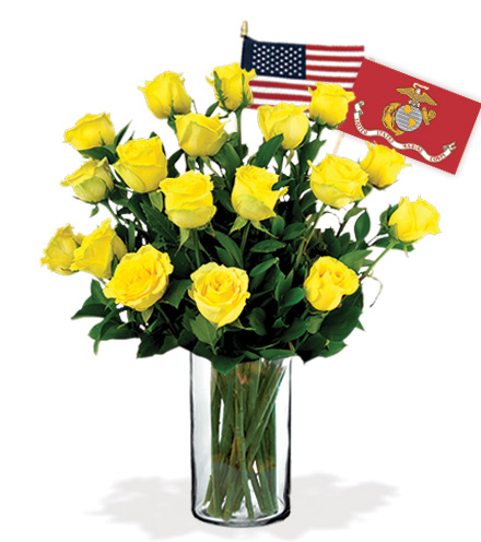 18 Yellow Roses - Marines