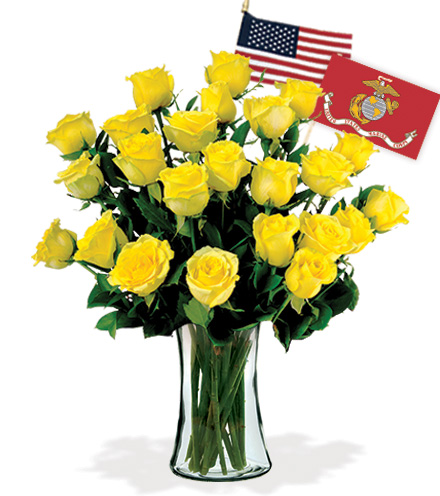 24 Yellow Roses - Marines