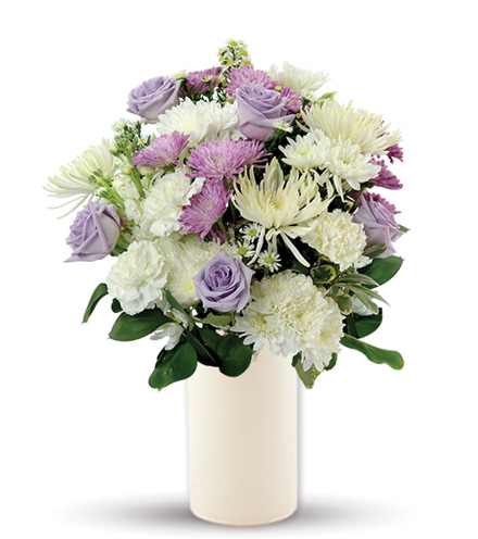 Treasured Love Lavender & White