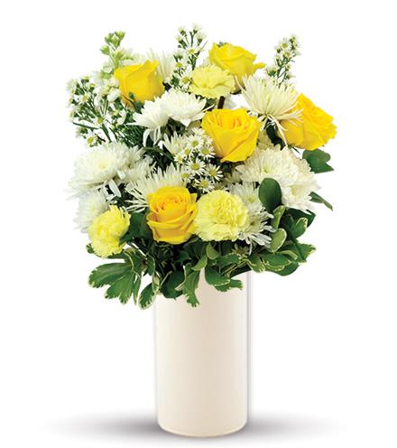 Treasured Love Yellow & White