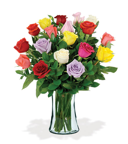 18 Artisan Roses - Multi-Colored