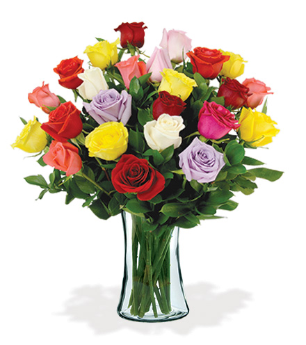 24 Artisan Roses - Multi-Colored