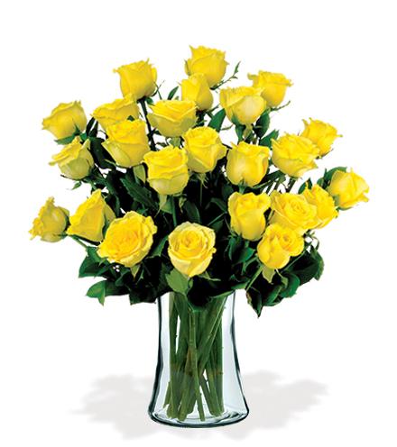 12 Artisan Roses - Yellow