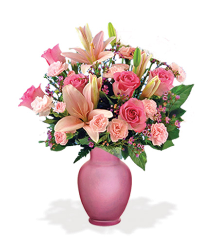 Pink Celebration with Pink Vase Special