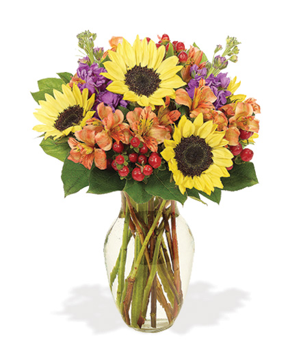 Fall Sunflower Brilliance Bouquet