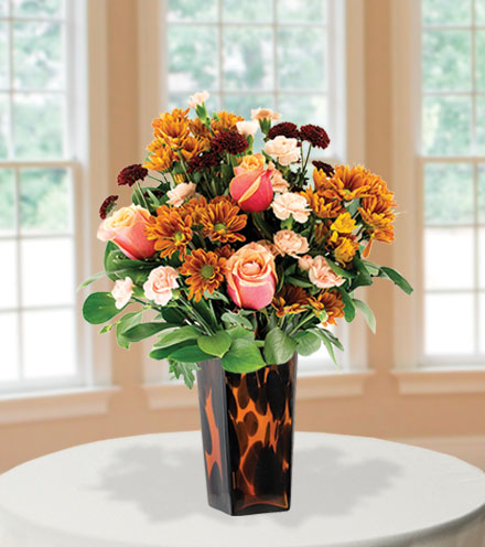 Golden Glory with Decorative Vase