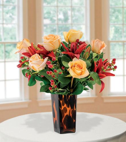 Elegant Tigress with Decorative Vase