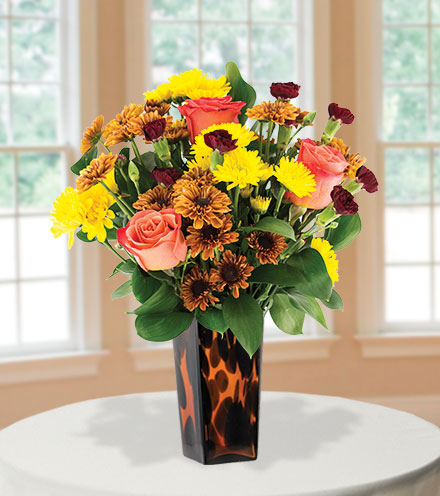Thoughts of Fall with Decorative Vase