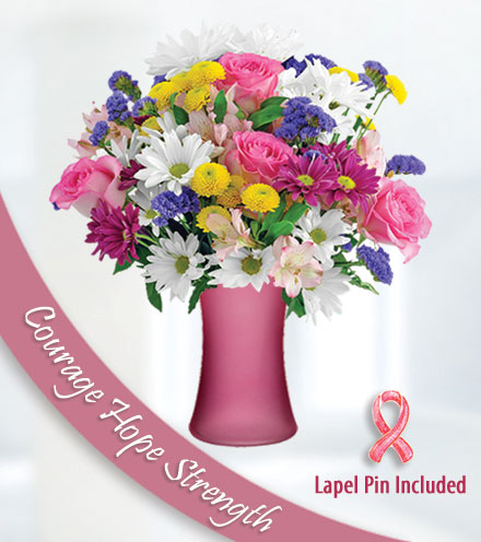 Cherished Spirit - Pink Vase and Pin
