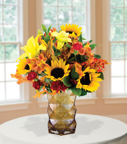 Harvest Happiness with Amber Vase