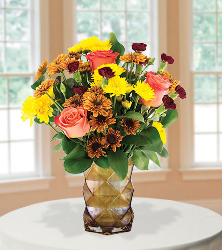Thoughts of Fall with Amber Vase