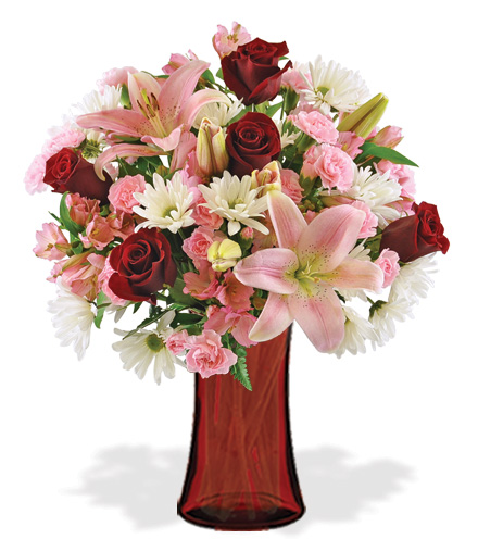 Be My Valentine with Red Vase