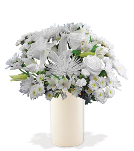 Eternal Blessings with White Vase