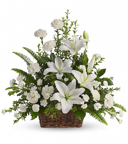 Peaceful White Lilies From  $105