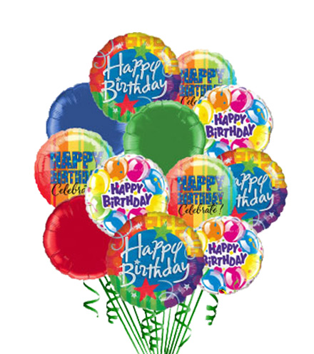 Simply 12 - Happy Birthday Balloons