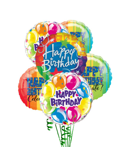 Simply 6 - Happy Birthday Balloons