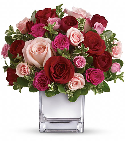 Love Medley with Red Roses