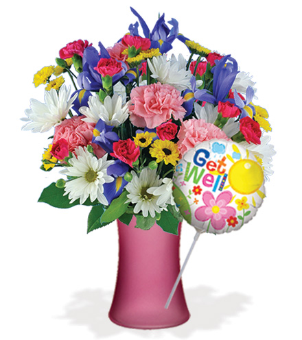 Thoughts of You with Vase & Get Well Balloon