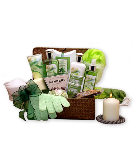 Uplifting Cucumber & Melon Spa Basket
