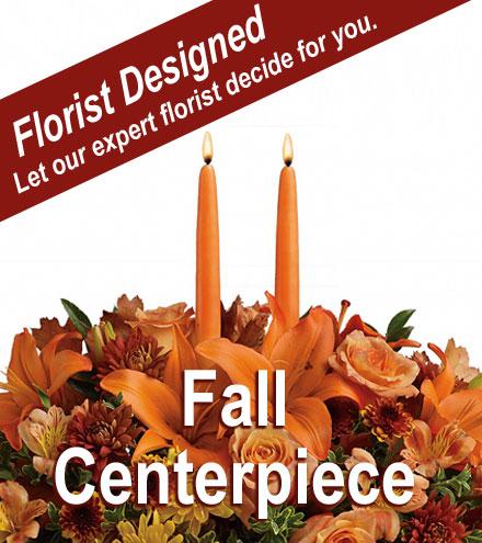 Florist Designed - Fall Centerpiece