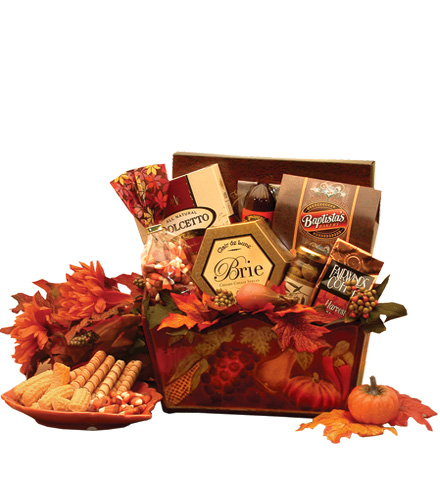 Thankful Fall Harvest Gourmet Gift Basket