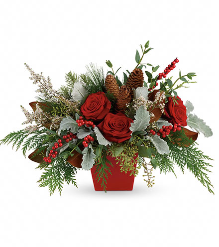 Holiday Blooms Centerpiece