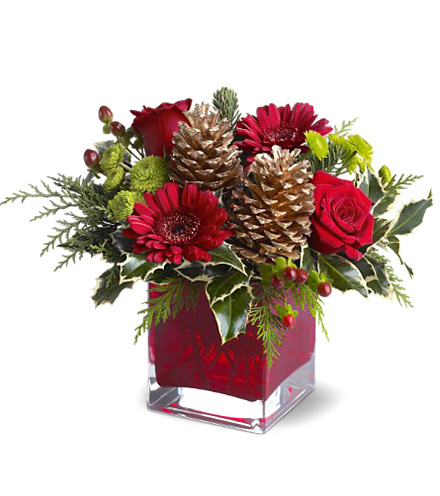 Cozy Holiday Cube Bouquet